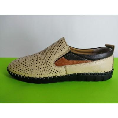 Мод:629 Мъжки летни обувки естествена кожа
