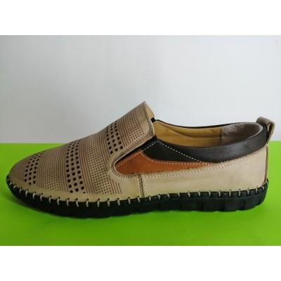 Мод:628 Мъжки летни обувки естествена кожа