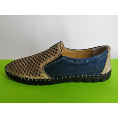 Мод:626 Мъжки летни обувки естествена кожа