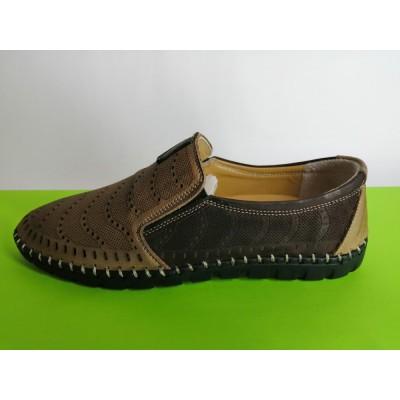 Мод:625 Мъжки летни обувки естествена кожа