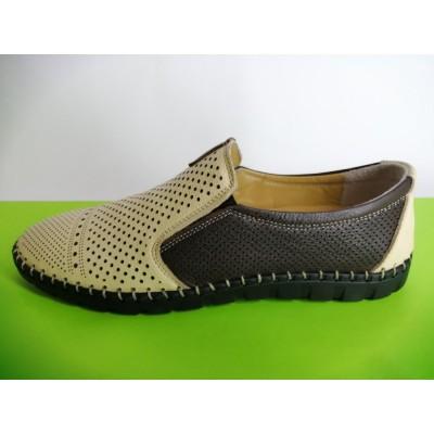 Мод:624 Мъжки летни обувки естествена кожа