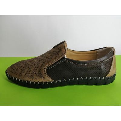 Мод:623 Мъжки летни обувки естествена кожа