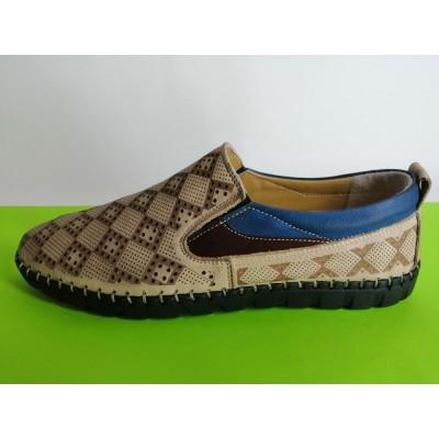 Мод:620 Мъжки летни обувки естествена кожа