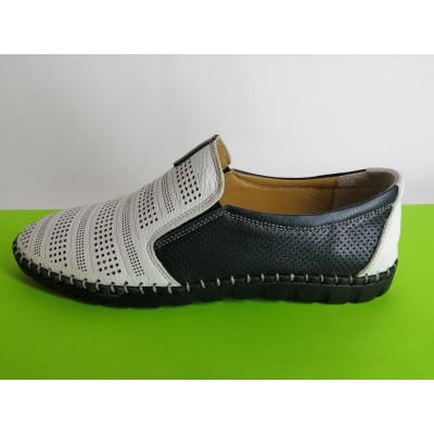 Мод:619 Мъжки летни обувки естествена кожа