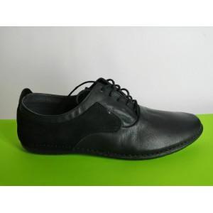 617-черно Мъжки летни обувки естествена кожа