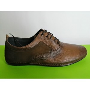 617-кафяво Мъжки летни обувки естествена кожа