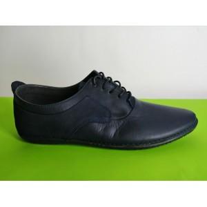 617-син Мъжки летни обувки естествена кожа