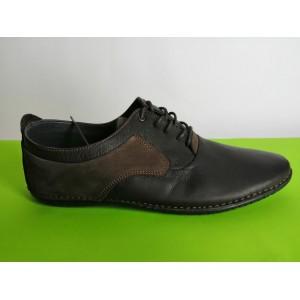617-т.кафяво Мъжки летни обувки естествена кожа