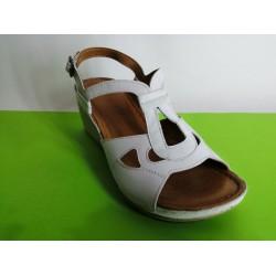 080-бяло-KARYOKA сандали естествена кожа