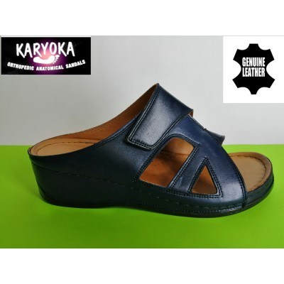 Мод:059-KARYOKA кожени ортопедични чехли