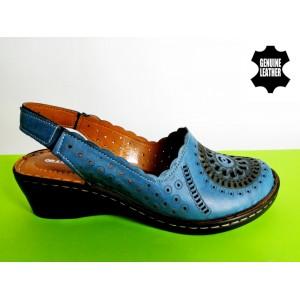 708-сини Сандали-100%естествена кожа