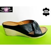 Мод:763-KARYOKA кожени дамски чехли