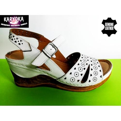 Мод:762-KARYOKA сандали естествена кожа