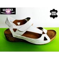 Мод:761-KARYOKA ниски ортопедични кожени сандали