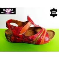 473-KARYOKA ниски ортопедични кожени сандали