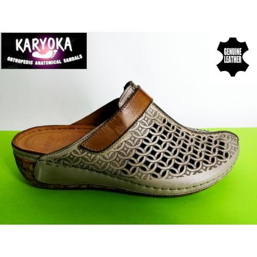 Мод:751-KARYOKA чехли естествена кожа