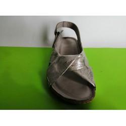 084-беж.злато-KARYOKA ниски ортопедични кожени сандали