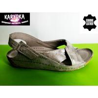 084-KARYOKA ниски ортопедични кожени сандали