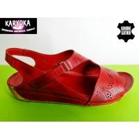 085-Д-KARYOKA ниски ортопедични кожени сандали