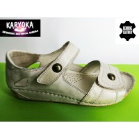472-KARYOKA ниски ортопедични кожени сандали