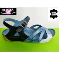085-E-KARYOKA ниски ортопедични кожени сандали