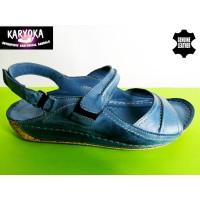 085-Г -KARYOKA ниски ортопедични кожени сандали