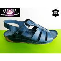 085-Б -KARYOKA ниски ортопедични кожени сандали