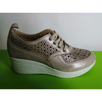 Мод:724-Б Летни обувки от естествена кожа на платформа