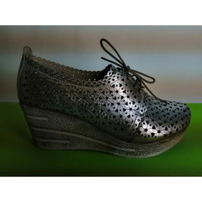 Мод:724-B Летни обувки от естествена кожа на платформа