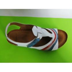 473-бяло-KARYOKA ниски ортопедични кожени сандали
