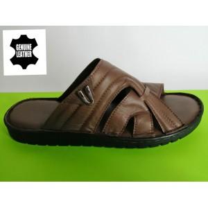 Мод:521 Мъжки анатомични чехли естествена кожа