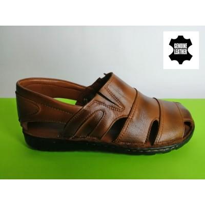 Mод:513 Мъжки анатомични сандали от естествена кожа
