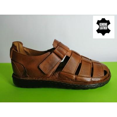 Mод:518 Мъжки анатомични сандали от естествена кожа
