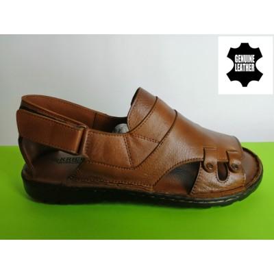 Mод:517 Мъжки анатомични сандали от естествена кожа