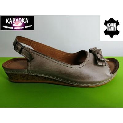 МОД:386-А KARYOKA ниски кожени сандали