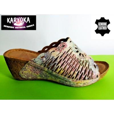 Мод:758-KARYOKA чехли естествена кожа