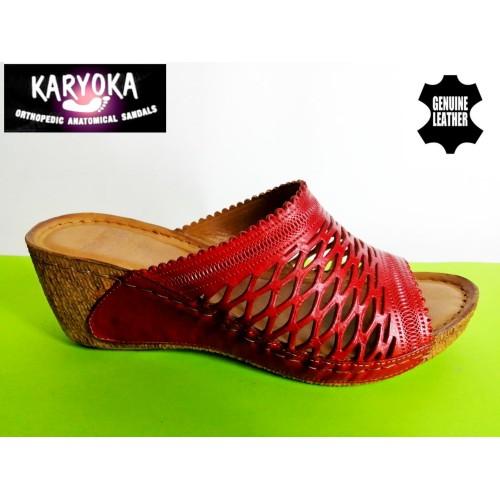 Мод:759-KARYOKA чехли естествена кожа