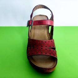 762-червено-KARYOKA сандали естествена кожа