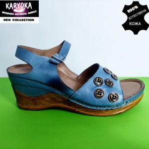 775-син-KARYOKA сандали естествена кожа