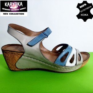 772-бежов-KARYOKA сандали естествена кожа