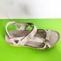 761-т.бежово-KARYOKA ниски ортопедични кожени сандали