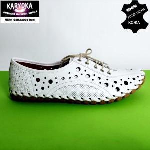 Мод:444-А--KARYOKA ниски ортопедични кожени летни обувки