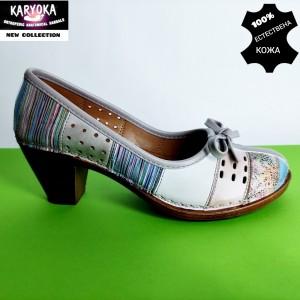 Мод:463-А KARYOKA-обувки от естествена кожа на ток