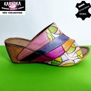 745-лилаво-KARYOKA чехли естествена кожа
