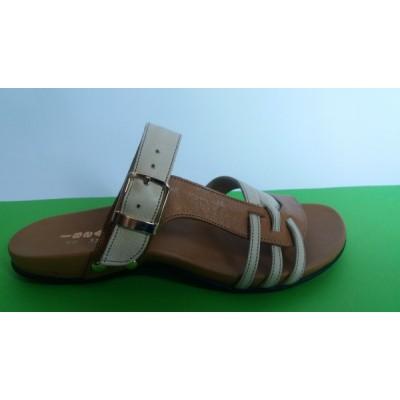 Мод:359 ниски ортопедични кожени чехли