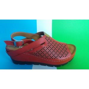 Мод:405 кожени сандали на платформа