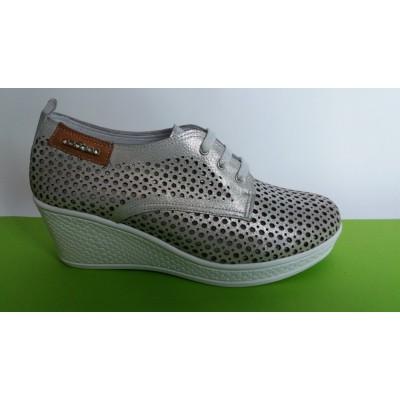 Мод:724 Летни обувки от естествена кожа на платформа