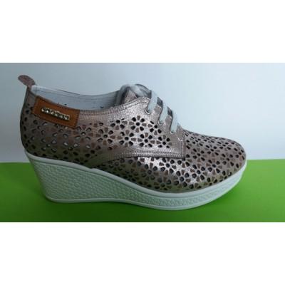 Мод:724-A Летни обувки от естествена кожа на платформа