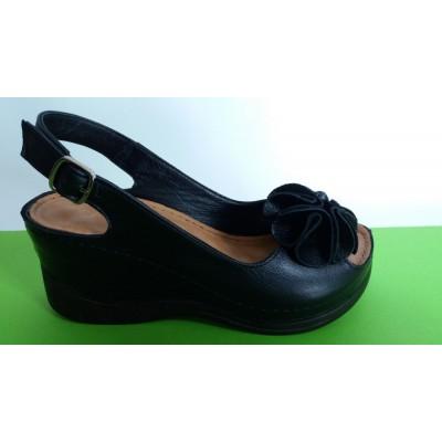Мод:402 Kожени сандали на платформа