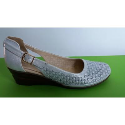 Мод:729 Ортопедични кожени сандали на платформа